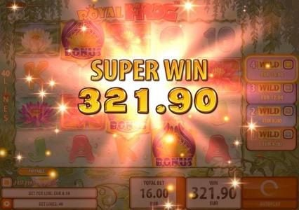 Casinia featuring the Video Slots Royal Frog with a maximum payout of $200,000