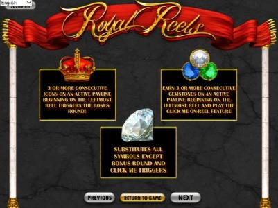Play slots at Bella Vegas: Bella Vegas featuring the Video Slots Royal Reels with a maximum payout of $7,500