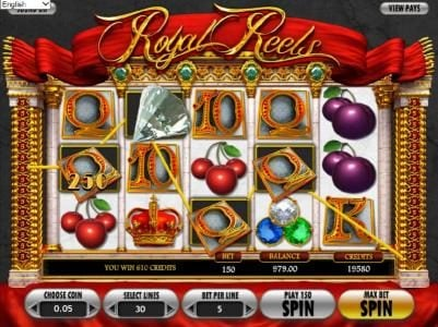 Play slots at Go Wild: Go Wild featuring the Video Slots Royal Reels with a maximum payout of $7,500