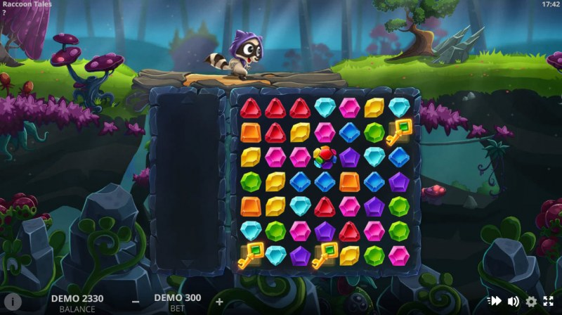 Raccoon Tales :: Scatter symbols triggers the free spins bonus feature