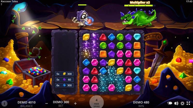 Raccoon Tales :: Multiple winning combinations