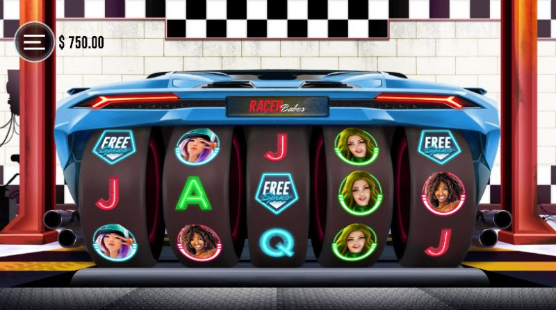 Racer Babes :: Scatter symbols triggers the free spins feature