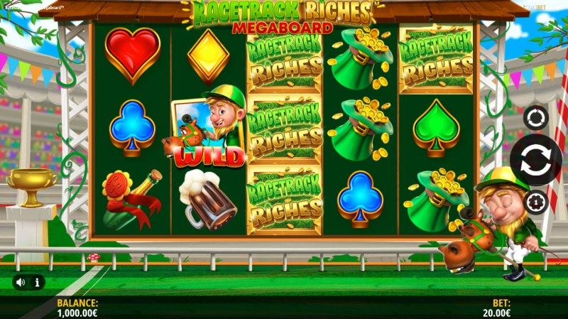 Play slots at Viggoslots: Viggoslots featuring the Video Slots Racetrack Riches Megaboard with a maximum payout of $100,000