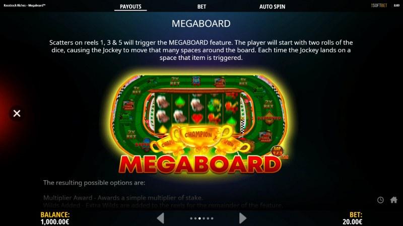 Racetrack Riches Megaboard :: Megaboard