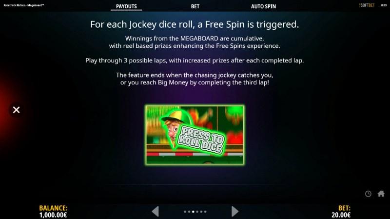 Racetrack Riches Megaboard :: Feature Rules20