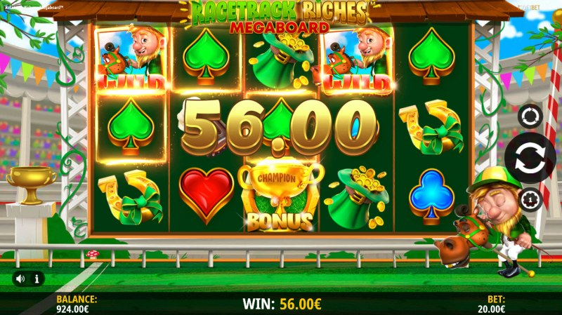 Racetrack Riches Megaboard :: Multiple winning paylines