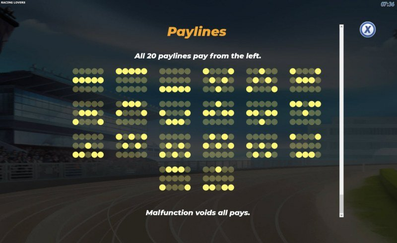 Racing Lovers :: Paylines 1-20
