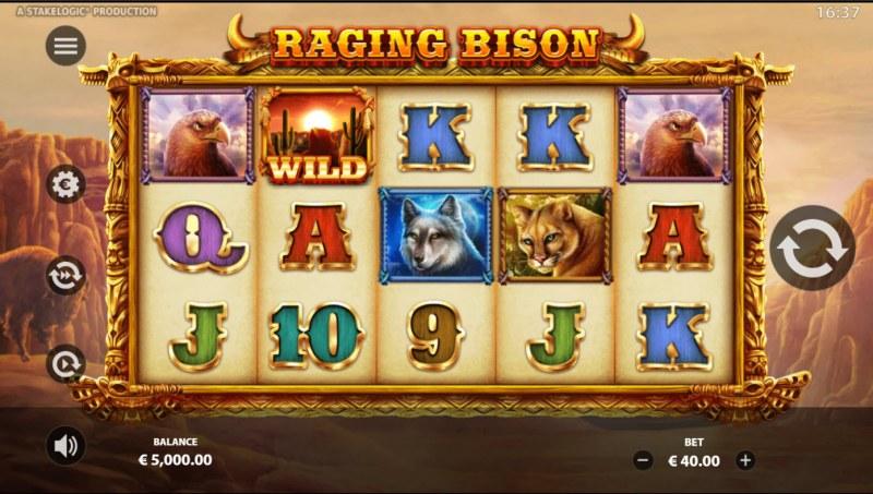 Raging Bison :: Base Game Screen