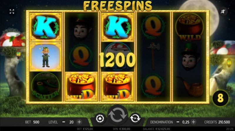 Rainbow Falls :: Free Spins Game Board