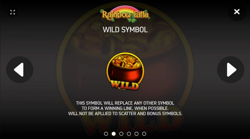 Rainbow Falls :: Wild Symbols Rules