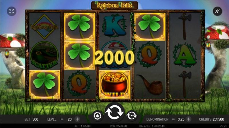 Rainbow Falls :: Multiple winning paylines