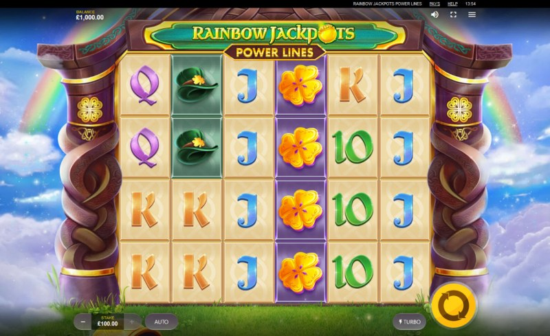 Play slots at Clover Casino: Clover Casino featuring the Video Slots Rainbow Jackpots Power Lines with a maximum payout of $122,490
