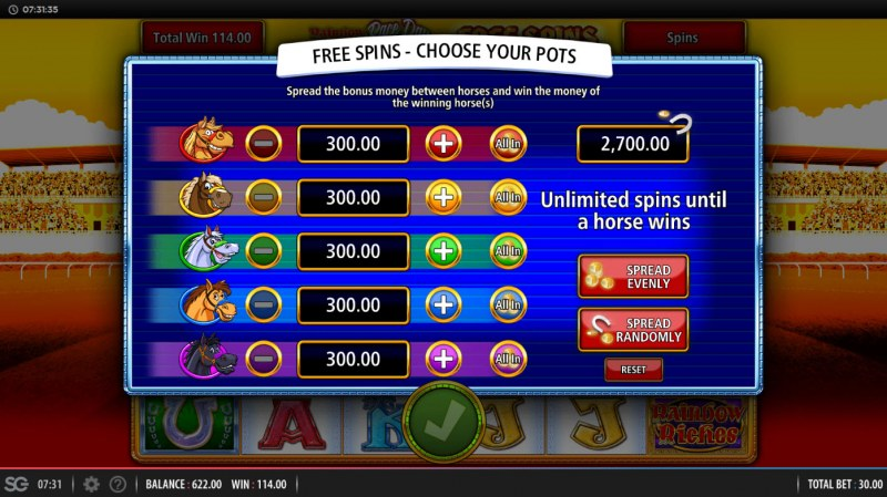 Rainbow Riches Race Day :: Choose your pots