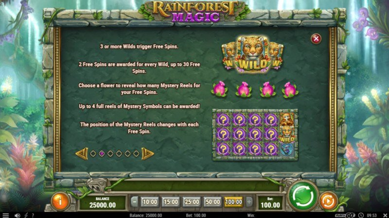 Rainforest Magic :: Free Spins Rules