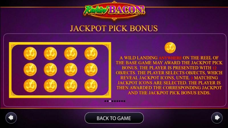 Rakin' Bacon :: Jackpot Pick Bonus Rules