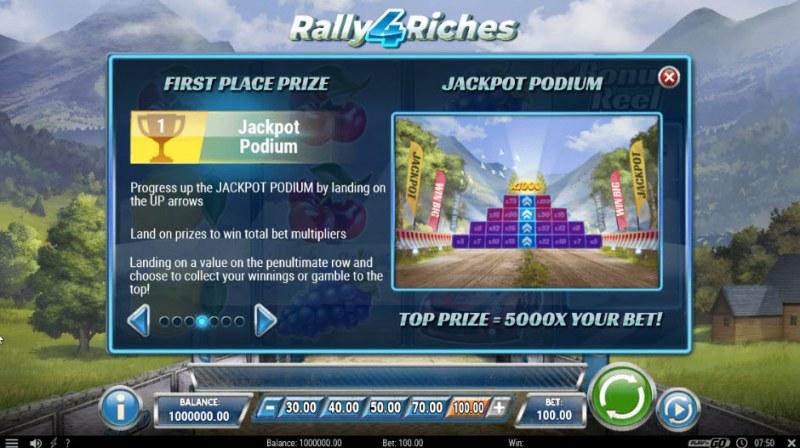 Rally 4 Riches :: Bonus Game Rules