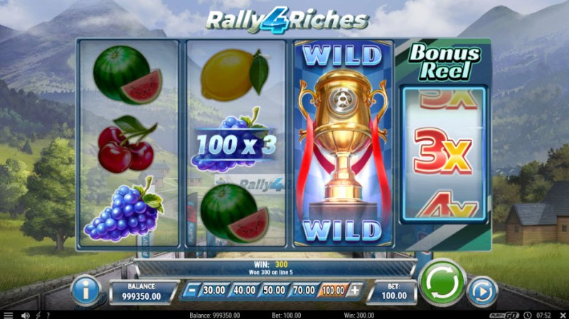 Rally 4 Riches :: Three of a kind win