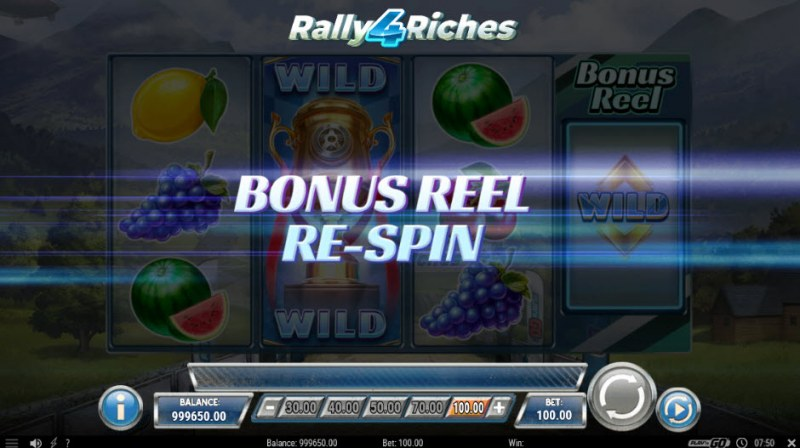 Rally 4 Riches :: Bonus Reel Re-Spin