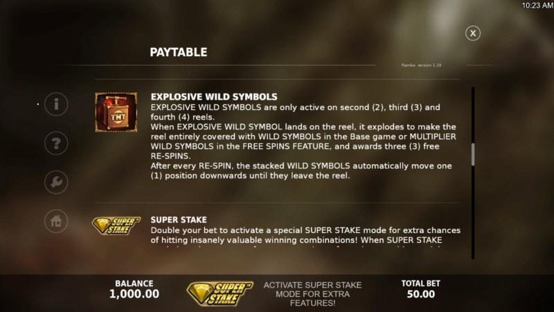 Rambo :: Explosive Wilds