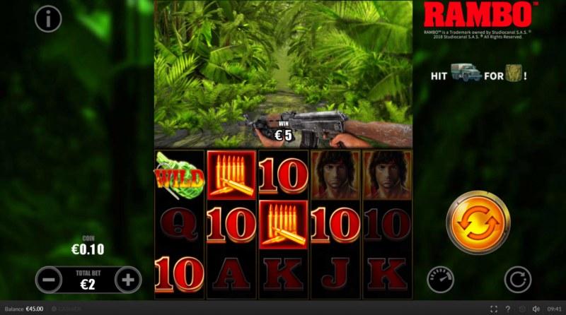 Rambo :: Multiple winning paylines