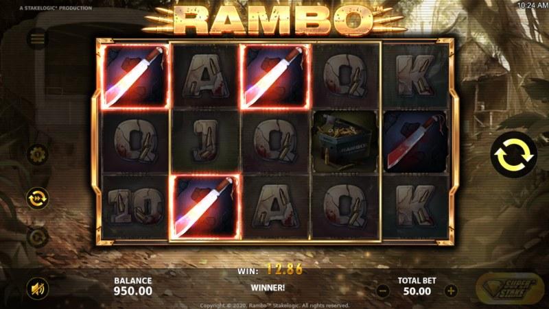 Rambo :: Three of a kind win