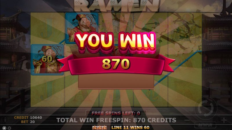 Ramen :: Total free spins payout