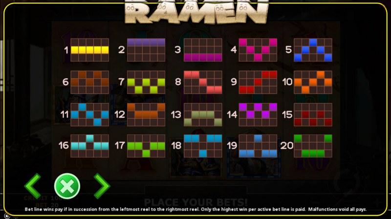 Ramen :: Paylines 1-20