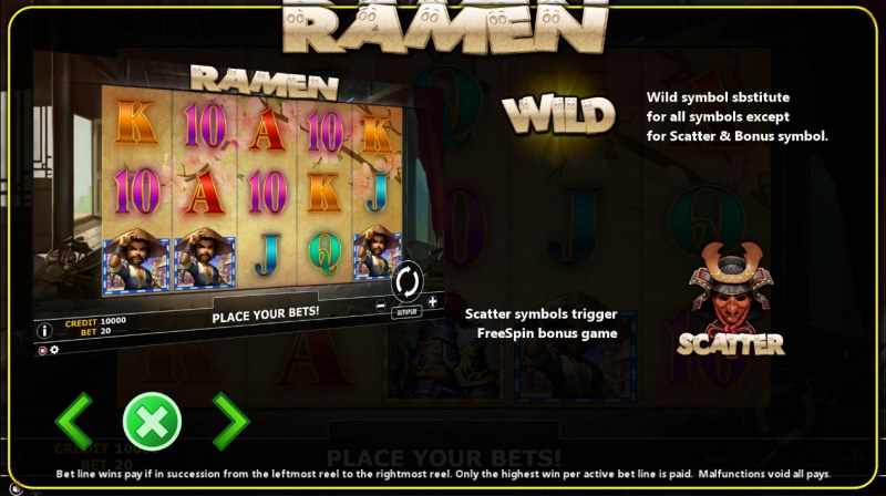 Ramen :: Wild and Scatter Rules