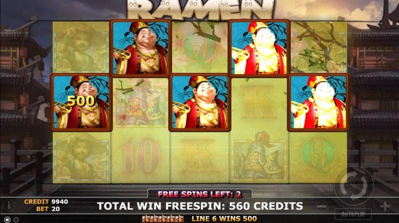 Ramen :: Free Spins Game Board