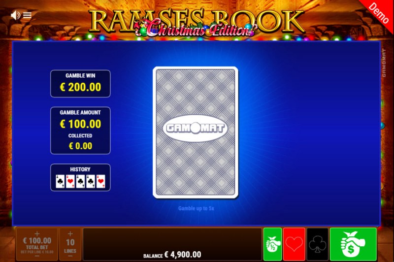 Ramses Book Christmas Edition :: Red or Black Gamble Feature
