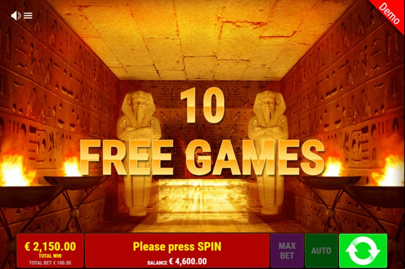 Ramses Book Christmas Edition :: 10 free spins awarded