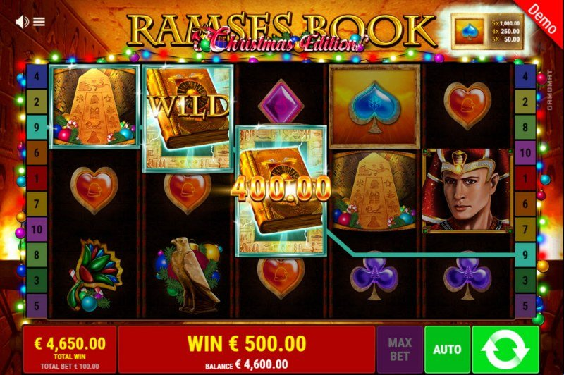 Ramses Book Christmas Edition :: Multiple winning combinations