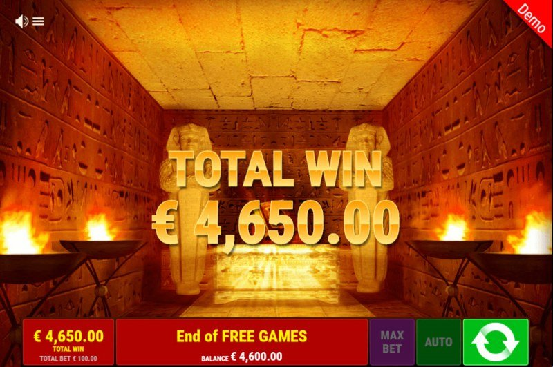 Ramses Book Christmas Edition :: Total Free Spins Payout