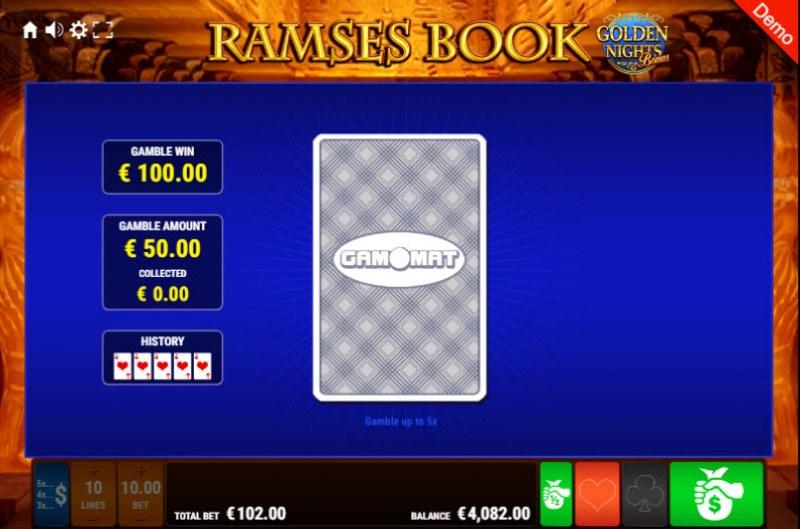 Ramses Book Golden Nights Bonus :: Red or Black Gamble Feature