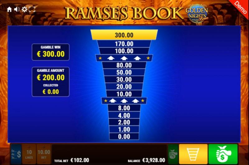 Ramses Book Golden Nights Bonus :: Ladder Gamble Feature