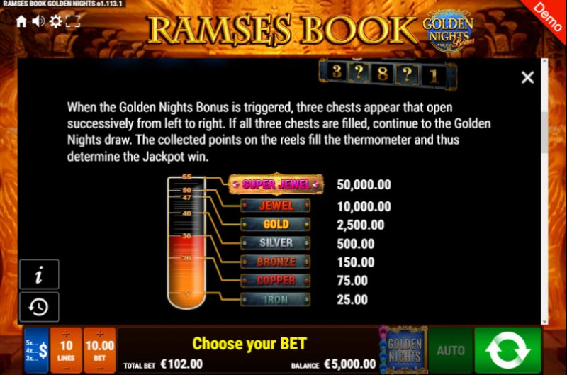 Ramses Book Golden Nights Bonus :: Bonus Game Rules