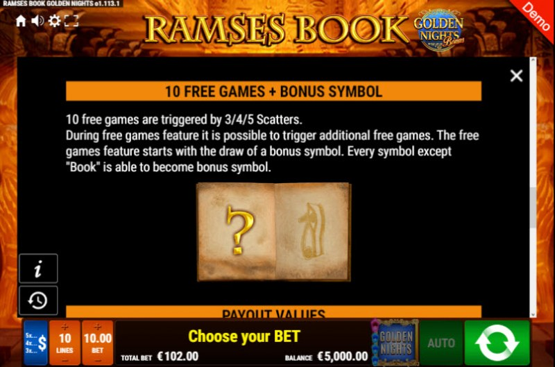 Ramses Book Golden Nights Bonus :: Free Spins Rules