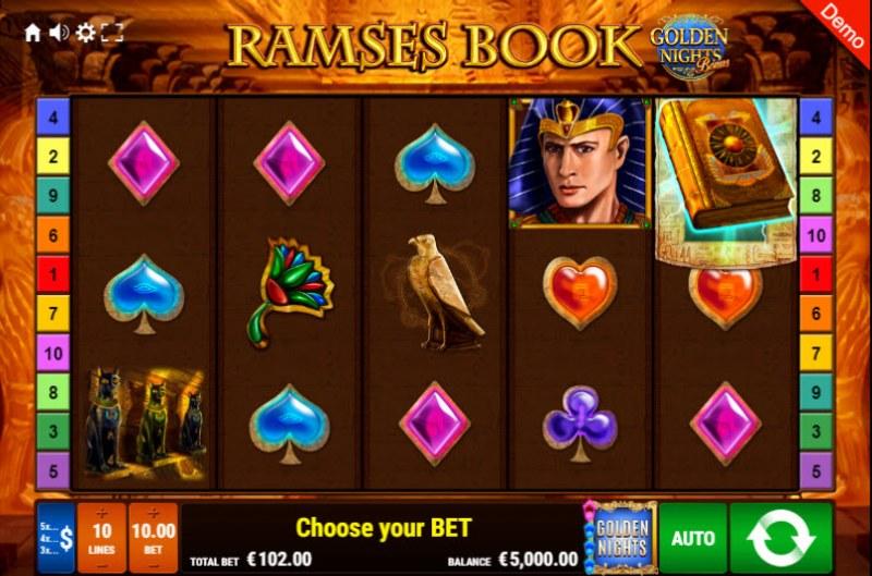 Ramses Book Golden Nights Bonus :: Main Game Board