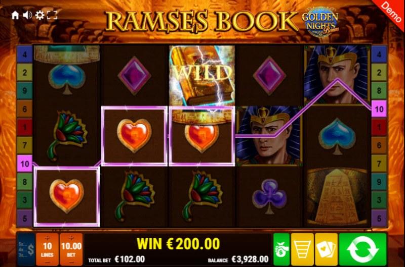 Ramses Book Golden Nights Bonus :: Three of a kind win