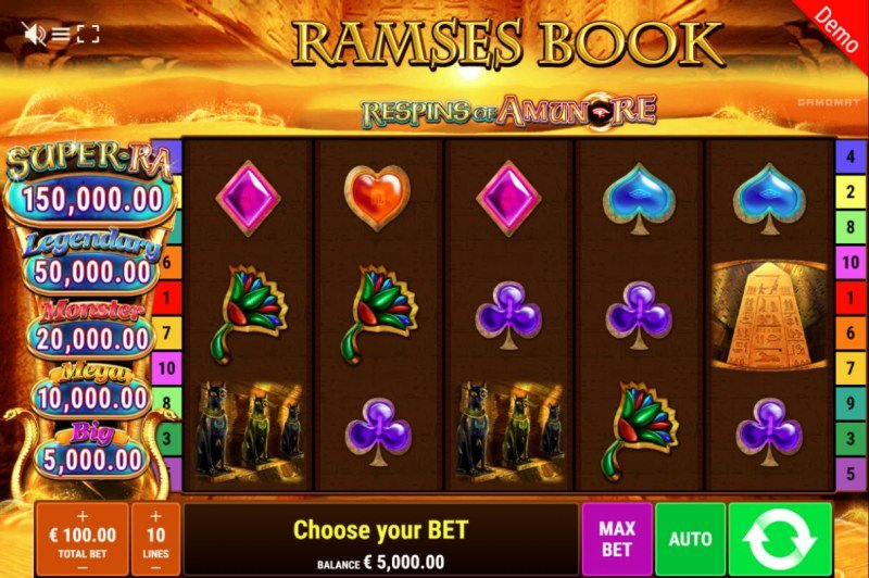 Ramses Book Respins of Amun Re :: Main Game Board