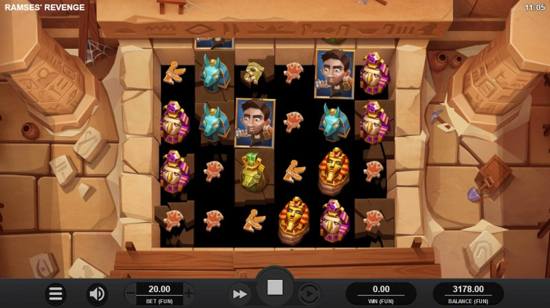 Ramses' Revenge :: Scatter symbols triggers the free spins bonus feature