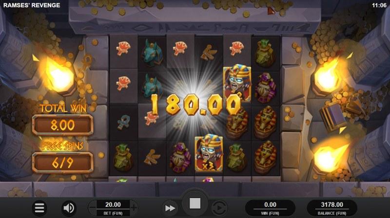 Ramses' Revenge :: Multiple winning combinations