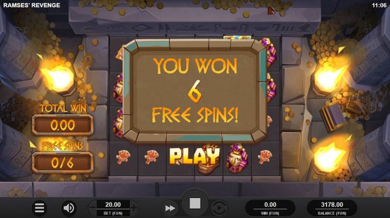Ramses' Revenge :: 6 free spins awarded