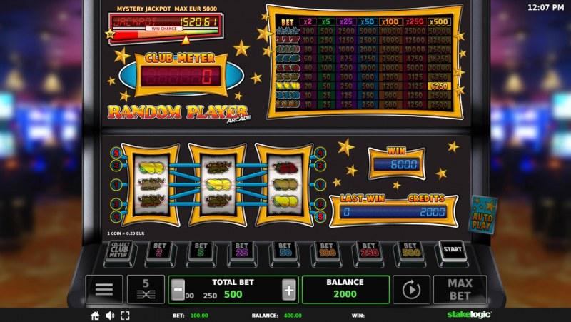 Random Player Arcade :: Three of a kind