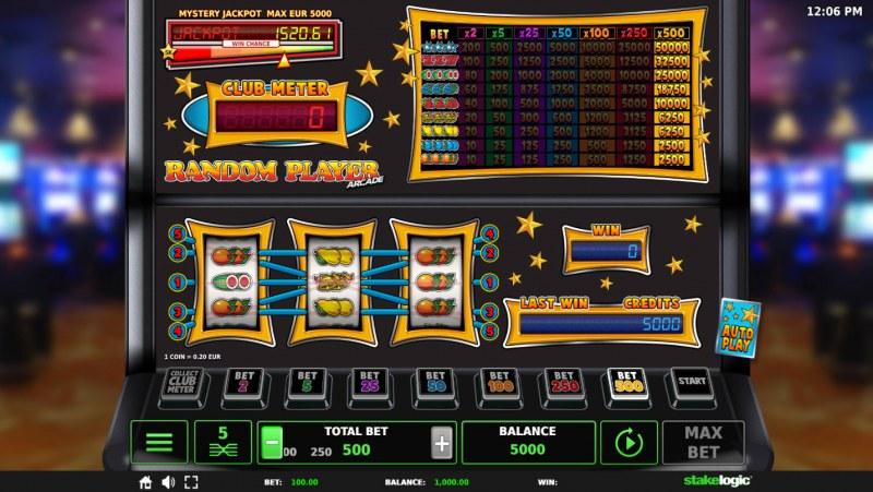 Random Player Arcade :: Main Game Board