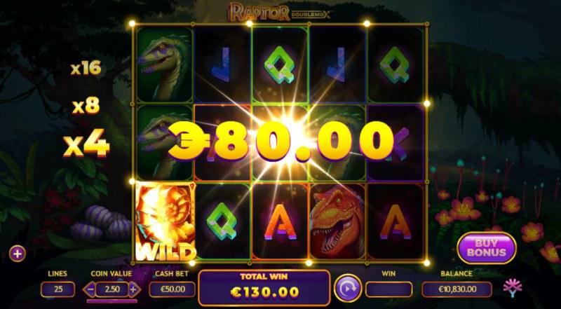 Raptor Doublemax :: Multiple winning paylines