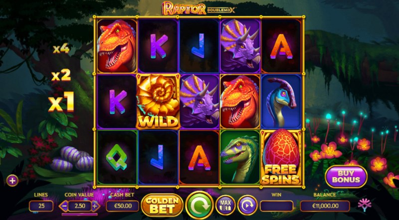 Raptor Doublemax :: Base Game Screen