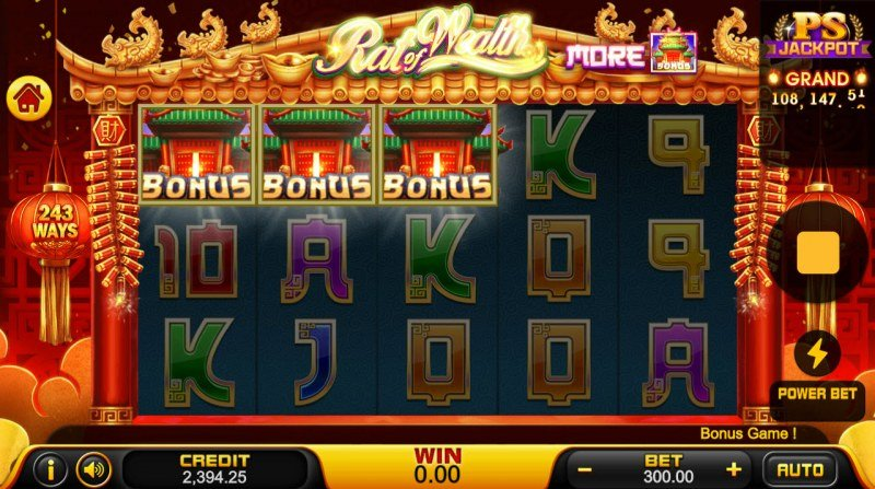 Rat of Wealth :: Scatter symbols triggers the free spins feature