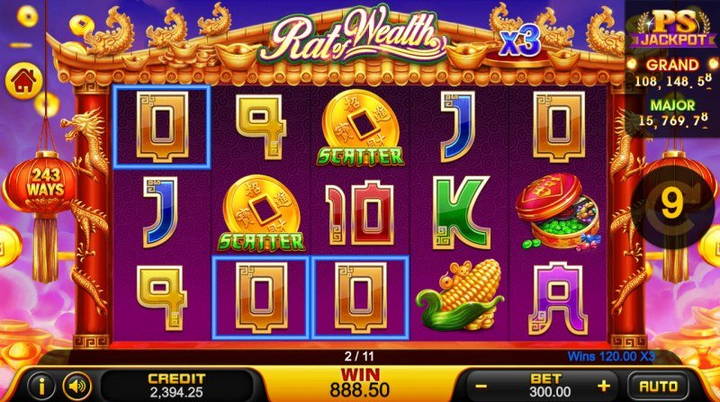 Rat of Wealth :: Free Spins Game Board