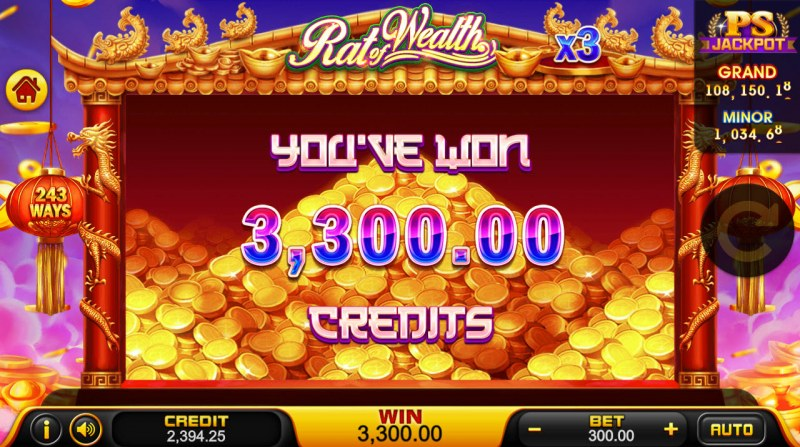 Rat of Wealth :: Total free spins payout